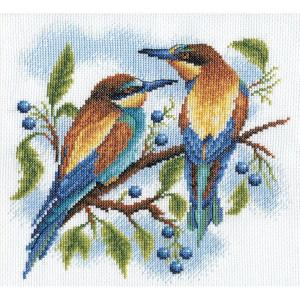 "Panna counted cross stitch kit ""Bright birds""..."
