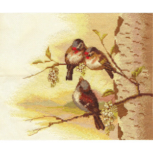 """Panna counted cross stitch kit """"Spring Tune""""..."""
