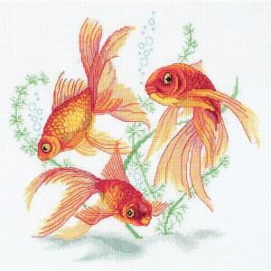 "Panna Kreuzstichset ""Goldfische"" 24x22.5cm,..."
