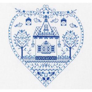 "Panna counted cross stitch kit ""Blue Heart""..."