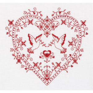 """Panna counted cross stitch kit """"Heart with..."""