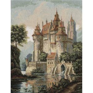 """Panna counted cross stitch kit """"Castle in the..."""