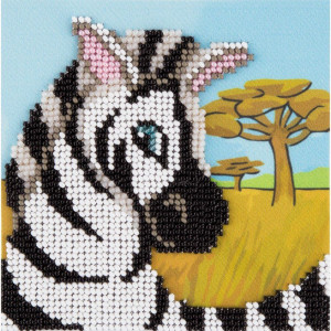 "Klart Perlenstickerei ""Zebra"" 11x11cm,..."