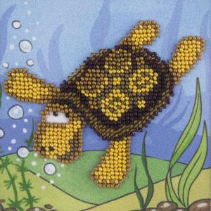 "Klart beads stitching kit ""Turtle"" 11x11cm, DIY"