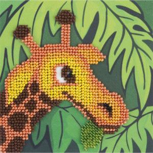 "Klart beads stitching kit ""Giraffe"" 11x11cm, DIY"