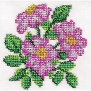 "Klart beads stitching kit ""Fragrant wild rose""..."