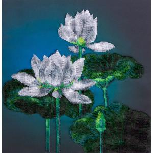 """Panna beads stitching kit """"White Lotus""""..."""