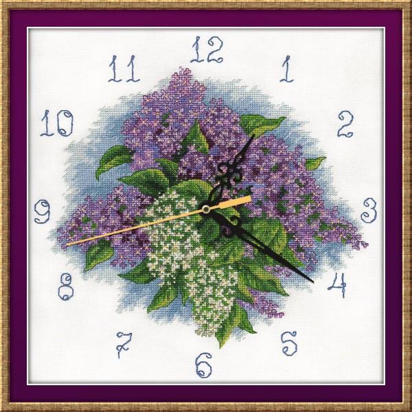 "Panna kreuzstichset /""reloj zählmuster jardines florecen/"" 25x25cm"