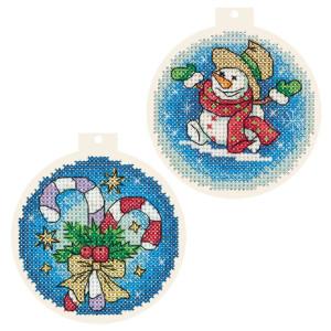 "Panna counted cross stitch kit pendant ""Christmas..."