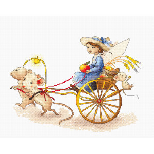 """Luca-s counted cross stitch kit """"Fairy with..."""