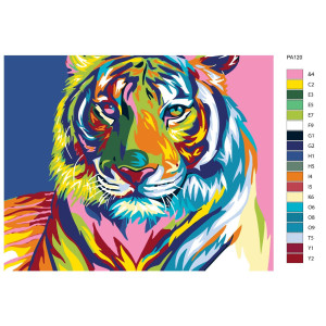 """Paint by Numbers """"Penetrating look of a tiger"""",..."""