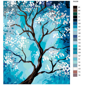 """Paint by Numbers """"Tree blossom"""" , 40x50cm, RA208"""