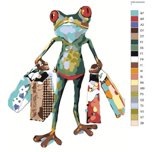 """Paint by Numbers """"Frog traveler"""" , 40x50cm,..."""