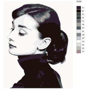 """Paint by Numbers """"Audrey Hepburn"""", 40x50cm,..."""