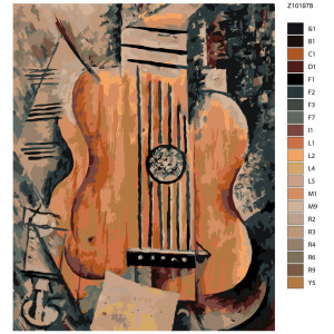 """Paint by Numbers """"Guitar"""", 40x50cm, Z-Z101978"""