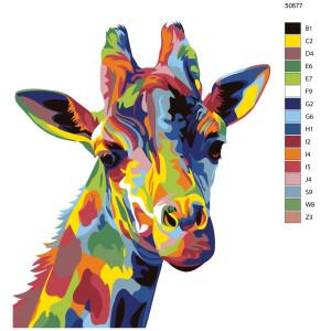 "Paint by Numbers ""Giraffe"" , 40x50cm, KTMK-50677"