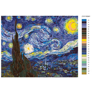 """Paint by Numbers """"Night by Klimt"""", 40x50cm,..."""