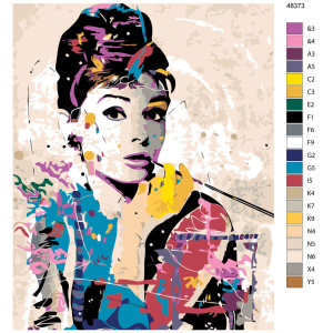 """Paint by Numbers """"Audrey colorful"""", 40x50cm,..."""