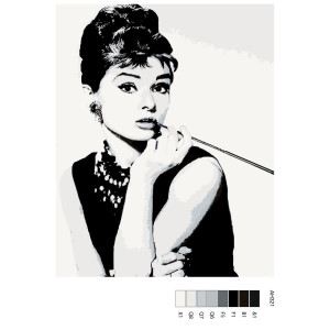 """Paint by Numbers """"Audrey"""" , 40x50cm, ARTH-AH321"""