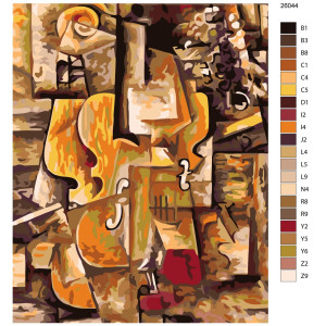 """Paint by Numbers """"Violin in parts"""", 40x50cm,..."""