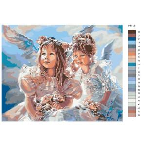 "Paint by Numbers ""Angel girl"", 40x50cm, KTMK-03112"