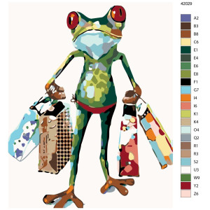 """Paint by Numbers """"Frog while shopping"""",..."""
