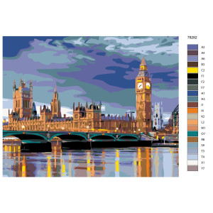 """Paint by Numbers """"Big Ben in London"""", 40x50cm,..."""