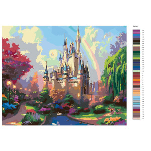 """Paint by Numbers """"Fantasy castle rainbow"""",..."""