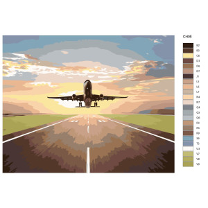 """Paint by Numbers """"Airplane taking off"""",..."""
