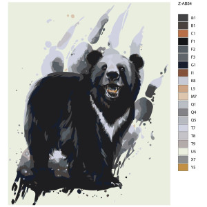 """Paint by Numbers """"Bear black"""", 40x50cm, Z-AB54"""