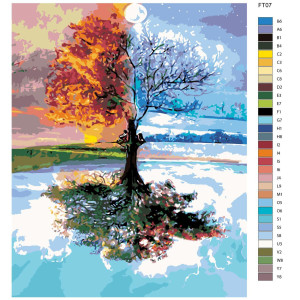 """Paint by Numbers """"Tree of the 4 seasons"""",..."""
