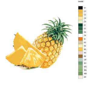 "Paint by Numbers ""Pineapple"", 40x50cm, KTMK-64488"