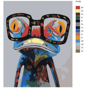 """Paint by Numbers """"Frog with glasses"""", 40x50cm,..."""