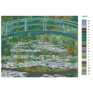 """Paint by Numbers """"Bridge green"""", 40x50cm, Z-AB181"""