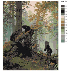 """Paint by Numbers """"Bear forest"""", 40x50cm, Z-AB188"""