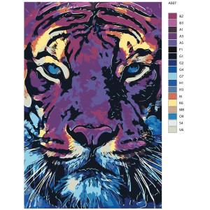 """Malen nach Zahlen """"Tiger Mächtig"""",..."""