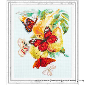 Magic Needle Counted cross stitch kit Butterflies and...