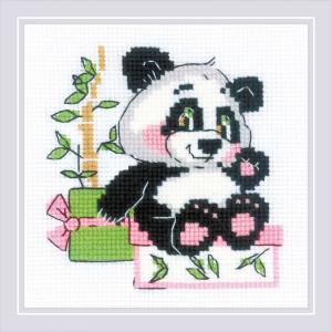 Riolis counted cross stitch kit Panda Geschenk, DIY