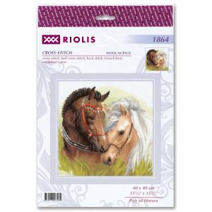 "Riolis Kreuzstich-Set ""Paar Pferde"",..."