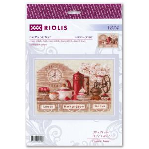 "Riolis Kreuzstich-Set ""Kaffeezeit"",..."