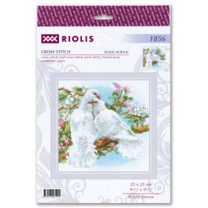 Riolis counted cross stitch kit Weiße Tauben, DIY