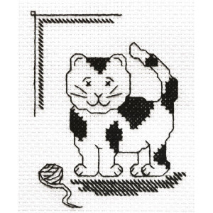 """Panna counted cross stitch kit  """"Play with me"""",..."""