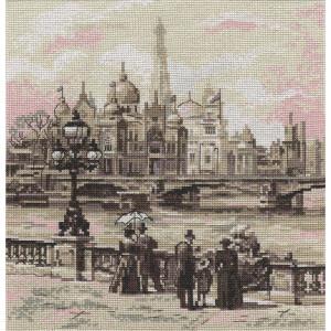 """Panna Kreuzstichset """"Paris. Auf der Brücke von..."""