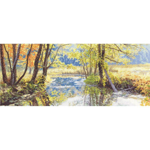"""Panna counted cross stitch kit  """"Small River at the..."""