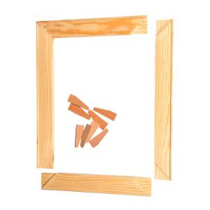 Keilrahmen Bausatz Holzleisten Set mit Keilen zur...