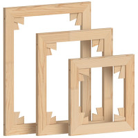 Keilrahmen Bausatz Holzleisten Set mit Keilen zur Selbstmontage, 40x50 cm, ohne Leinwand