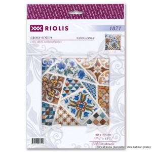 Riolis Counted cross stitch kit Cushion Mosaic 40x40cm, DIY