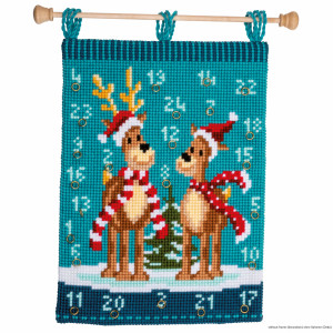 """Vervaco cross stitch kit  wall hanging """"Elk with..."""