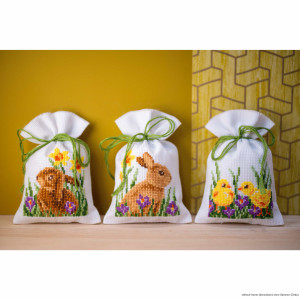 """Vervaco herbal bags cross stitch kit """"Rabbits with..."""