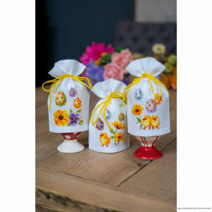 """Vervaco  """"Easter eggs set of 3"""", counted, DIY"""